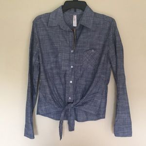 Love notes chambray button down. Small. Brand new